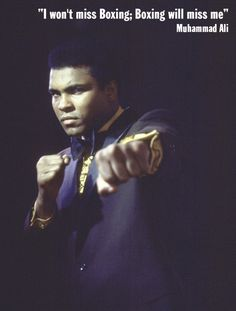 Muhammad Ali is pictured in this portrait in 1971.