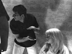 Roman Polanski and Catherine Deneuve on-set of Repulsion Catherine Deneuve, Roman Polanski, Scene Photo, Picture Photo, Orson Welles, Easy Rider, French Films, Film Director, On Set