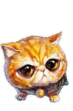 #котик #кот #перс #глаза #мило #рисунок #котенок #лапочка #cute #little #cat #kitten #picture #eyes