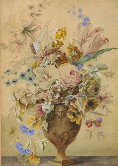 Mary Moser, decorative flower painting, 1759 | Flickr - Photo Sharing!