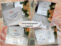 Hochzeitspapeterie in apricot