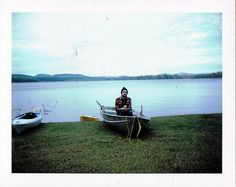 Alex, 2014   #polaroid #camping #canoe #film