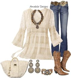 """i need this out fit.  """"Spring Country Girl"""" by amabiledesigns on Polyvore"""