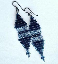 Brick Stitch Earrings, Cross Stitch, Drop Earrings, Jewelry, Punto De Cruz, Jewlery, Jewerly, Seed Stitch, Schmuck