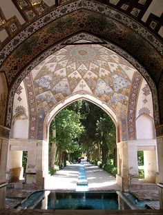 Persian Gardens  Water seems to be a big feature, alongside mosiac patterns