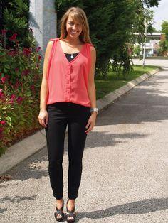 @Fringe and Lace top with @Gap black skinny pants #ninewest #ekatadesigns