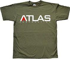 Atlas Corporation Logo Military Green Tshirt