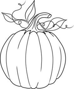 pumpkin outline - a pattern for making fall pillows Wool Applique, Applique Patterns, Applique Designs, Pumpkin Applique, Fall Coloring Pages, Coloring Books, White Pumpkins, Fall Pumpkins, Fall Halloween