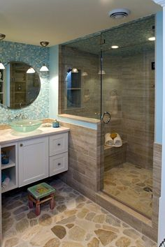 Looking for small bathroom ideas? Take a look at our best small bathroom design ideas to inspire you before you start redecorating your small Small Basement Bathroom, Beach House Bathroom, Relaxing Bathroom, Bathroom Plumbing, Cabin Bathrooms, Narrow Bathroom, Small Bathrooms, Beach Bathrooms, Master Bathrooms