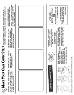 4-panel Comic worksheet* by Tigrikorn, via Flickr -- one of many free downloadables for drawing comics and strips
