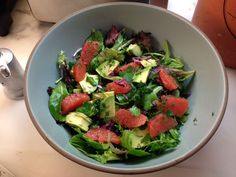 Grapefruit and Avocado Salad with Herbs