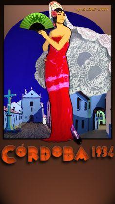 Cartel Feria Córdoba 1934 restaurado.