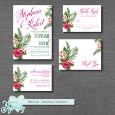 Hibiscus - Wedding Collection by Joytations on ETSY