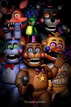 Rockstar Assemble poster by AzamatBlender on DeviantArt Five Nights At Freddy's, Fnaf 1, Anime Fnaf, Toy Bonnie, Bendy Y Boris, Fnaf Wallpapers, Fnaf Characters, Having No Friends, Fnaf Drawings