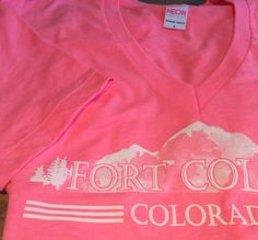 "Help her remember her Fort Collins roots with a beautiful ""girly"" pink Fort Collins, Colorado T-shirt! http://bit.ly/1yY3YOE"