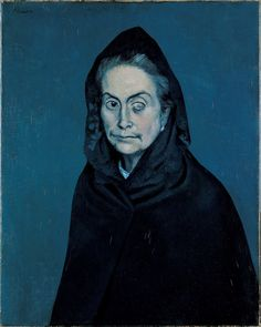 Pablo Picasso La Célestine (La Femma à la taie) (Celestina [The Woman with One-Eye]) Oil on canvas. 1904 Musée National Picasso, Paris - Pablo Picasso's Masterpieces shine in exhibit at de Young Museum - by Lyrica Glory and Michael Cuffe - Warholian Kunst Picasso, Art Picasso, Picasso Paintings, Picasso Portraits, Watercolor Paintings, Georges Braque, Cubist Movement, Dora Maar, Tracey Emin