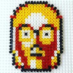 C3PO Star Wars hama beads by lukecharlesstudio