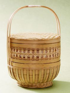 Two-Tier Bamboo Baskets