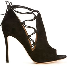 Gianvito Rossi Jennie Black Suede Sandals (8,065 MXN) ❤ liked on Polyvore featuring shoes, sandals, heels, heeled sandals, open toe shoes, suede shoes, high heel sandals and open toe sandals