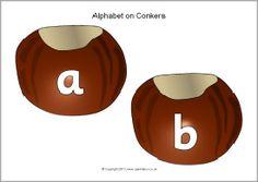 Alphabet on conkers (SB10053) - SparkleBox