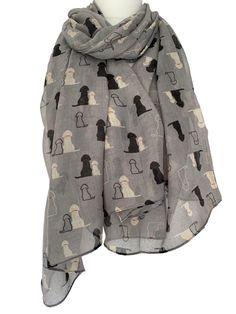 German Shepherd Alsatian Scarf Wrap Pashima Shawl  Cotton Dog Lovers Gift