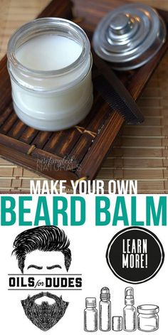 DIY Beard Oil Recipe with Young Living essential oils Looking for essential oil gift ideas for your bearded man? Make him some homemade Beard Balm or DIY Beard Oil. Quick and easy recipe for Father's Day! Diy Beard Oil, Beard Oil And Balm, Beard Balm, Homemade Beard Oil, Beard Soap, Best Beard Oil, Easy Father's Day Gifts, Diy Gifts, Homemade Cosmetics