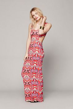 $260 Mara Hoffman Swim Womens Ananda Cutout Maxi Dress