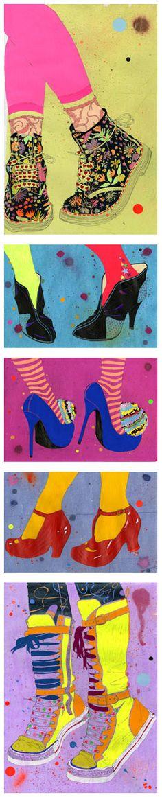 shoe portraits by Sarah Beetson