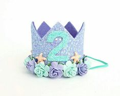 New birthday diy crown party hats Ideas Mermaid Crown, Mermaid Diy, Birthday Gifts For Husband, Mom Birthday Gift, Happy Birthday, Gold Birthday, Mermaid Birthday, Princesa Sophia, Crown Party