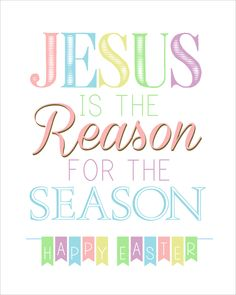 Jesus is the Reason for the Season FREE Easter Printable - How to Nest for Less™