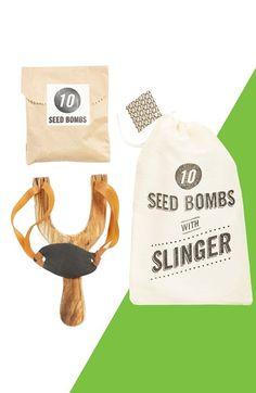 Slingshot Planter & Seed Bombs