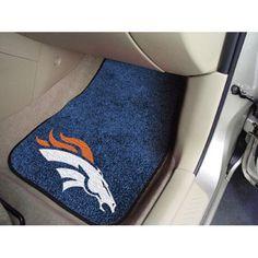Denver Broncos NFL Car Floor Mats (2 Front)