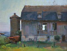 """""""County Barn,"""" by John Porter Lasater IV, oil, 14 x 18 in."""