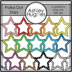 Polka Dot Stars {Graphics for Commercial Use}, freebie