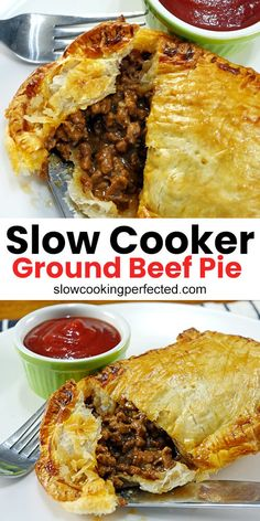 Slow Cooker Minced Beef, Minced Beef Pie, Slow Cooker Ground Beef, Ground Beef Crockpot Recipes, Meat Recipes, Slow Cooker Recipes, Barley Recipes, Catering Recipes, Crockpot Meat