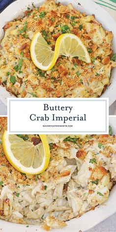 Crab Imperial is one of the best easy lump crab meat recipes. Jumbo lump crab in a simple seafood recipe with a crunchy topping and simple imperial sauce. #crabimperial #lumpcrabrecipes www.savoryexperiments.com Lump Crab Meat Recipes, Seafood Recipes, Recipes Dinner, Fish Recipes, Seafood Appetizers, Seafood Dishes, Canned Crab Recipes, Blue Crab Recipes, Crab Dishes
