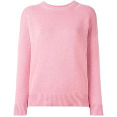 Saint Laurent distressed knit jumper (49,150 DOP) ❤ liked on Polyvore featuring tops, sweaters, pink, pink sweater, drop shoulder sweater, destroyed sweater, ripped sweater and long sleeve knit tops