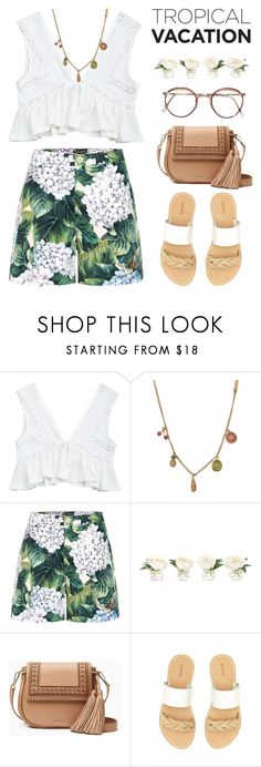 """""""Tropical Vacation #2"""" by hafizhahtika ❤ liked on Polyvore featuring Marc Jacobs, Dolce&Gabbana, NDI, Kate Spade, Soludos, summeroutfits, polyvorecontest and TropicalVacation"""