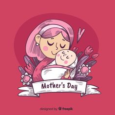 More than 3 millions free vectors, PSD, photos and free icons. Exclusive freebies and all graphic resources that you need for your projects Happy Mothers Day Banner, Mothers Day Poster, Mother's Day Clip Art, Mother's Day Background, Birthday Card Drawing, Cute Family, Mother And Child, Cute Illustration, Colorful Backgrounds
