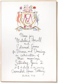 Happy Menocal custom reception invitation via The Vogue Wedding Guide http://www.vogue.com/guides/2012-wedding-guide/#/guide/7157/47
