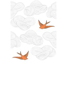 Hygge & West   Daydream (Orange) Tile. Powder room ceiling. Sold as 24x32 pieces