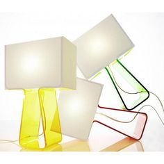 Tube Top Colors table Lamp by Pablo Designs