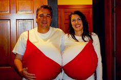 Hilarious bra costume #Couples #Halloween #Costumes