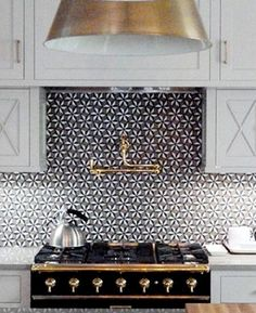 We all spend a lot of time in the kitchen so it's important that it's decorated with your desired style. If you're looking to be more adventurous with your decor, avoid having a plain backsplash over your cooker. Instead, opt for something patterned and colourful- a graphie tile. As a result, your kitchen will be noticeably brighter and everyone's eye will be drawn to this wonderfully bold statement backsplash.