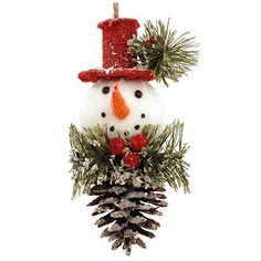 Snowman On Pinecone Ornament Blossom Bucket http://www.amazon.com/dp/B00NZR813S/ref=cm_sw_r_pi_dp_5jTAub09R5BCJ