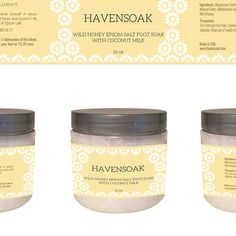 Create a quick, simple and elegant product jar label for Havensoak with responsive owners by crossdesign