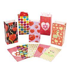 Valentine Bag Assortment - OrientalTrading.com $22 for 144 pieces