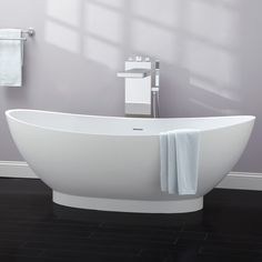 "71"" Brielle Resin Freestanding Tub - Bathroom"