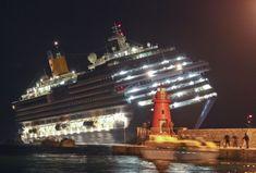 El crucero 'Costa Concordia', con 4.200 ocupantes, encalló la noche del viernes en la costa de Toscana, cerca de la isla de Giglio.