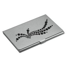 "Card holder Hand Made decorated with SWAROVSKI® ELEMENTS ""Wave Jet"" 